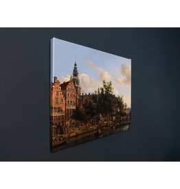 Reproduction on canvas View of the Oudezijds Voorburgwal 50x40 cm
