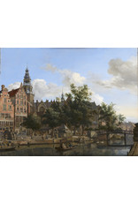 Reproduction on canvas View of the Oudezijds Voorburgwal