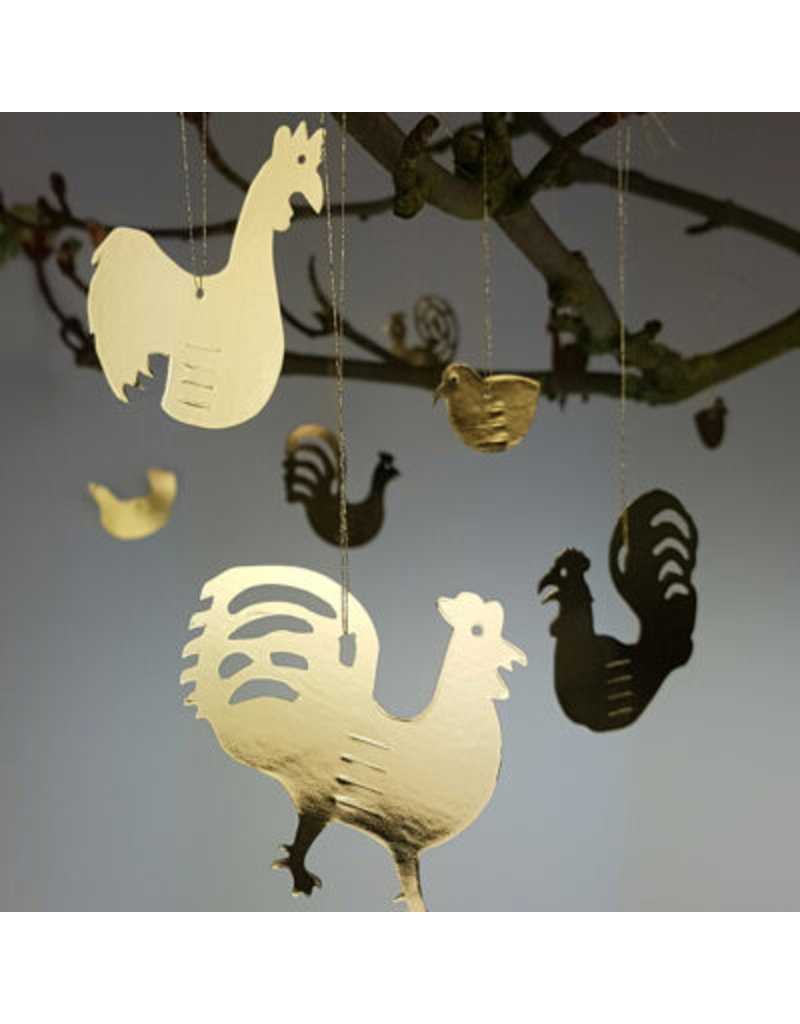 Paper Roosters with envelope