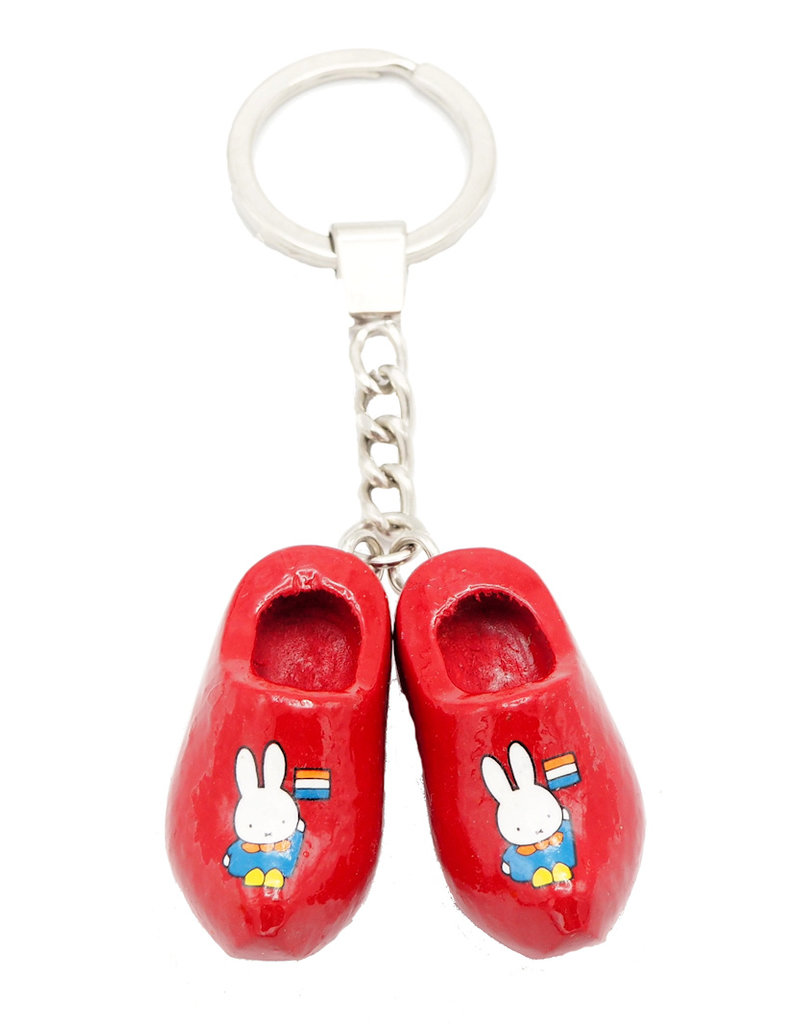 Keychain Miffy wooden shoes red Holland