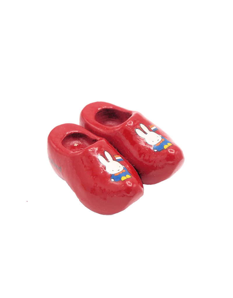 Magnet Miffy wooden shoes red Holland