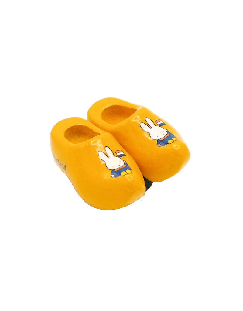 Magnet Miffy wooden shoes yellow Holland