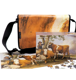 Jigsaw puzzle and bag with a picture of Paulus Potter, The Bull