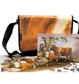 Puzzel  en tas met een afbeelding van Paulus Potter, De Stier