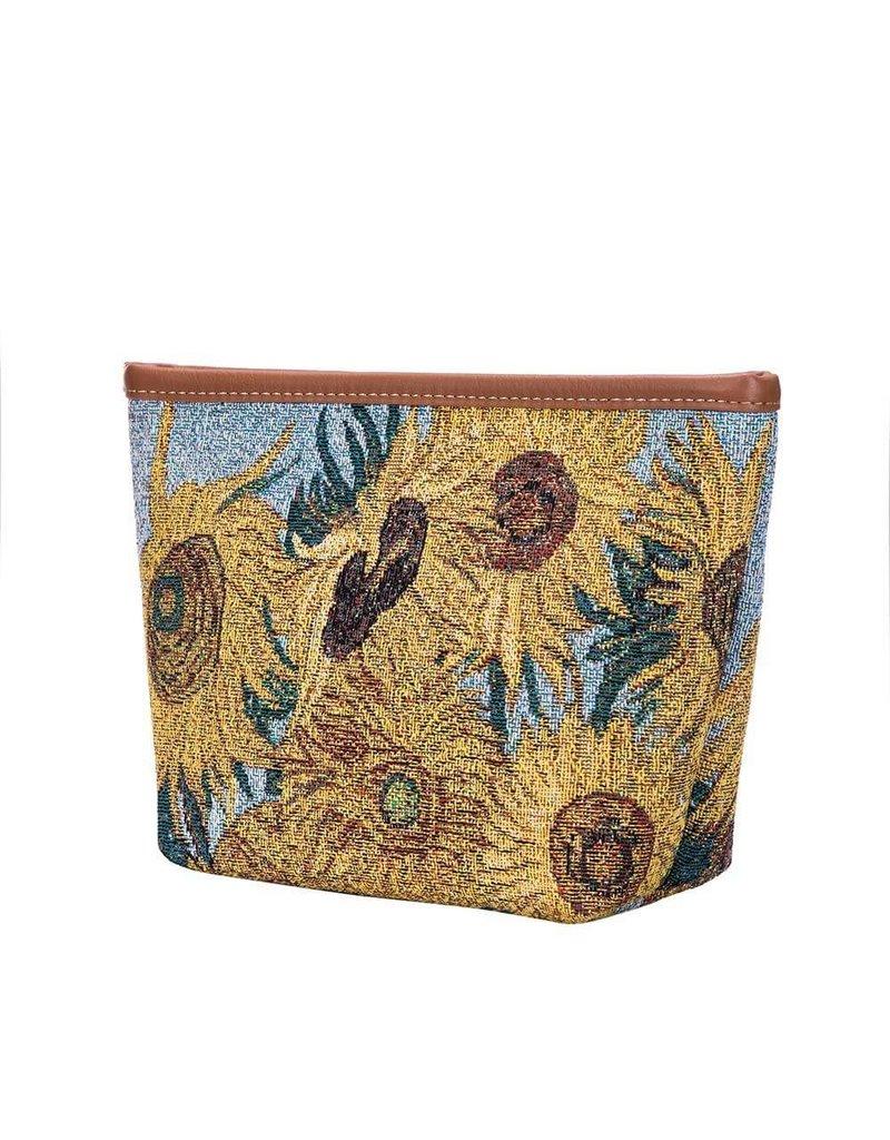 Make up tas Zonnebloem - van Gogh