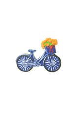 Magneet fiets met tulpen