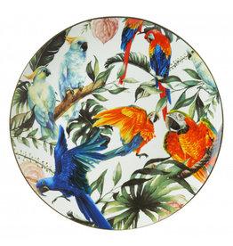 Wall plate tropical birds