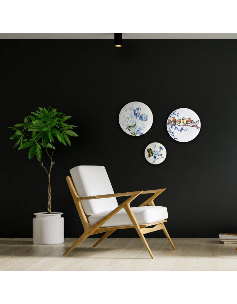 Wall plate forest birds