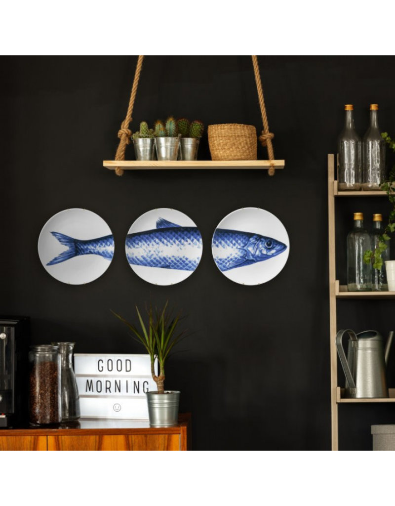 Wall plates fish (3 pieces)