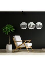 Wandborden Grachtenpanden (set van 3)