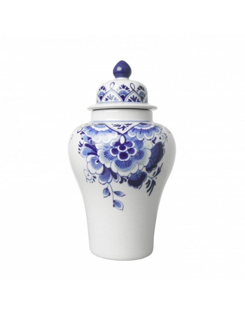 Vaas Dekselpul bloem Delfts blauw