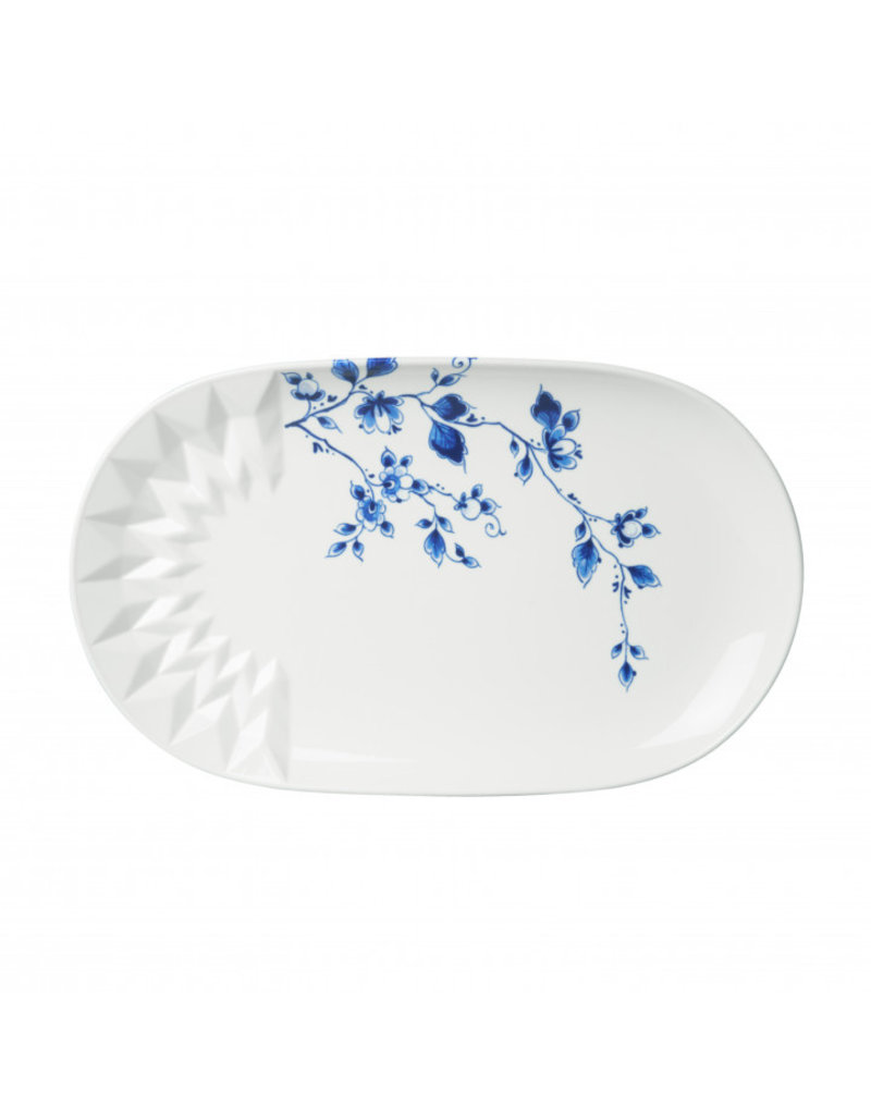 Serving tray blue fold
