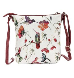 Elegant bag Gobelin hummingbird