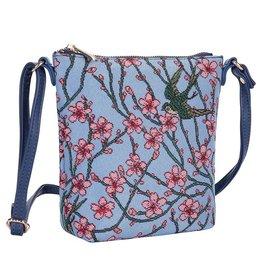 Elegant bag Gobelin Blossom and Swallow