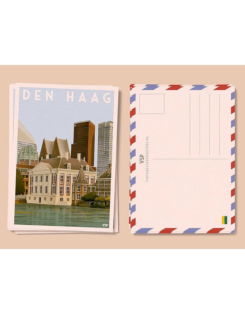 Vintage Stads ansichtkaart Mauritshuis Den Haag (6 stuks)