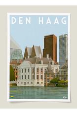 Vintage Stadsposter Mauritshuis A4