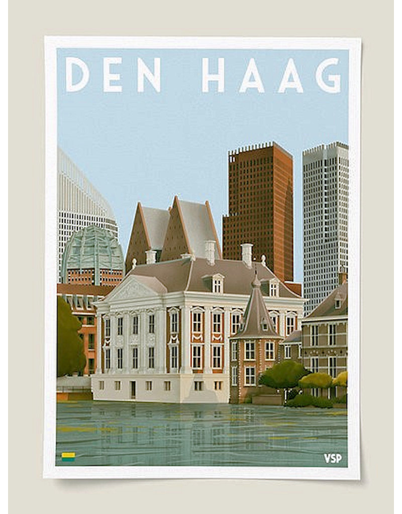 Vintage City Poster Mauritshuis A4
