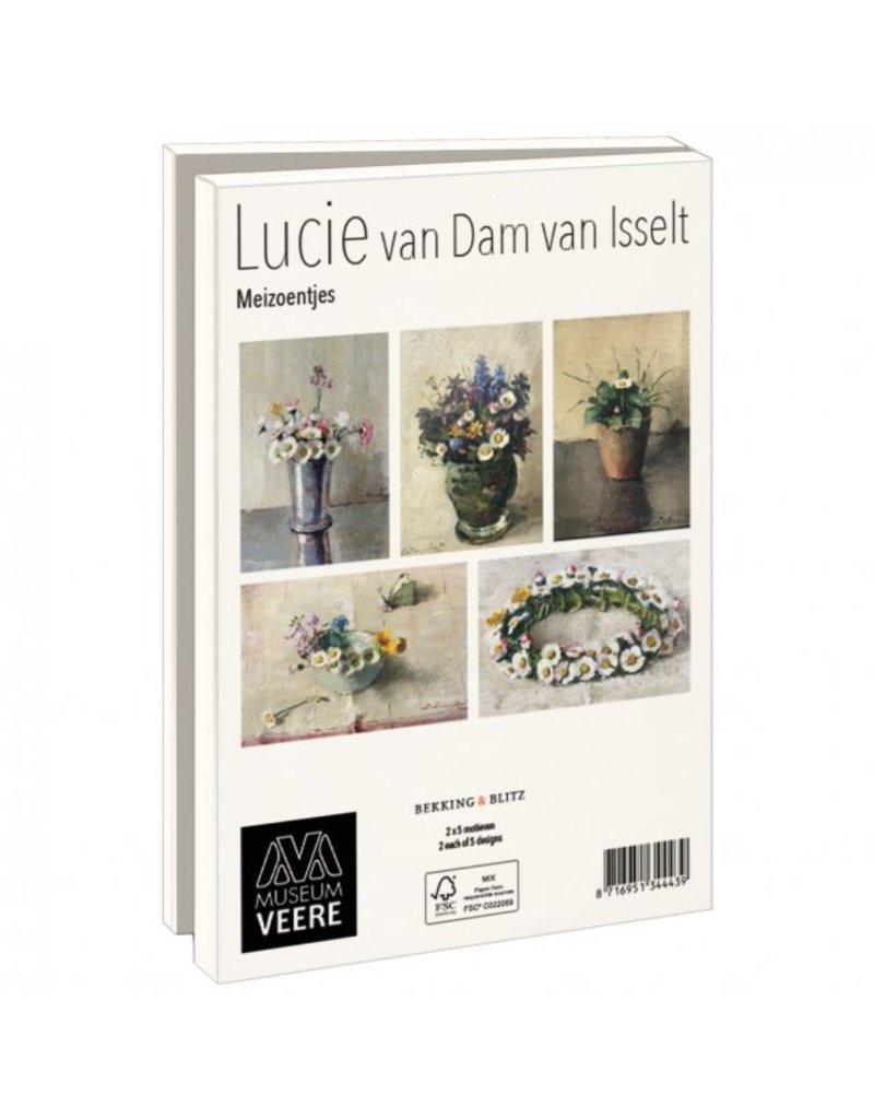 Kaartenmapje met env,  Meizoentjes, Lucie van Dam van Isselt