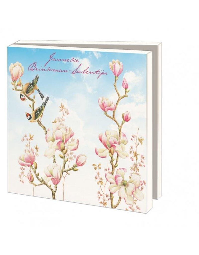 Card Wallet Birds, butterflies and flowers, Janneke Brinkman