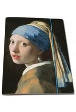 Portfoliomap A4, Meisje met de parel, Johannes Vermeer