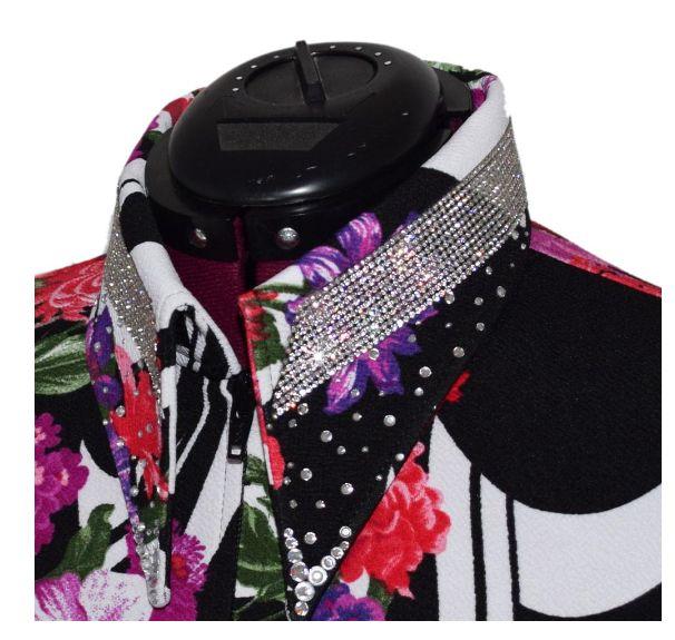 Lisa Nelle Crystal Crown Color Pop Showshirt size M