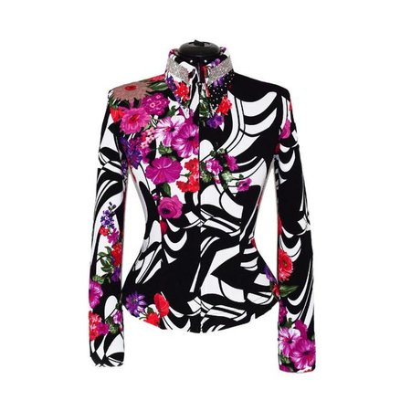 Lisa Nelle Crystal Crown Color Pop Showblouse maat M