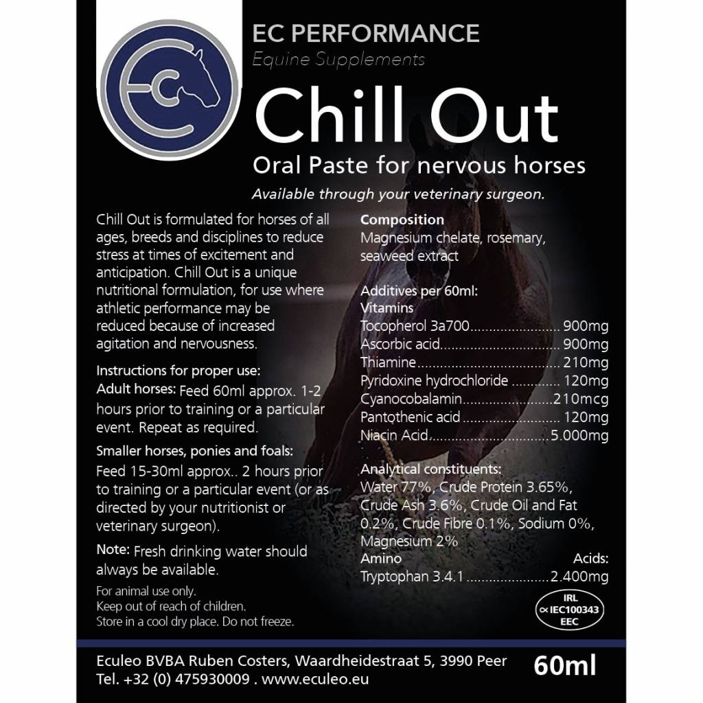 EC Performance Equine Supplements Chill out pasta