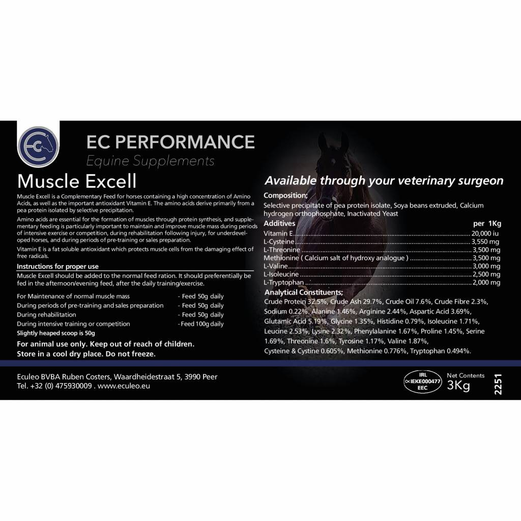 EC Performance Equine Supplements Muscle Excell