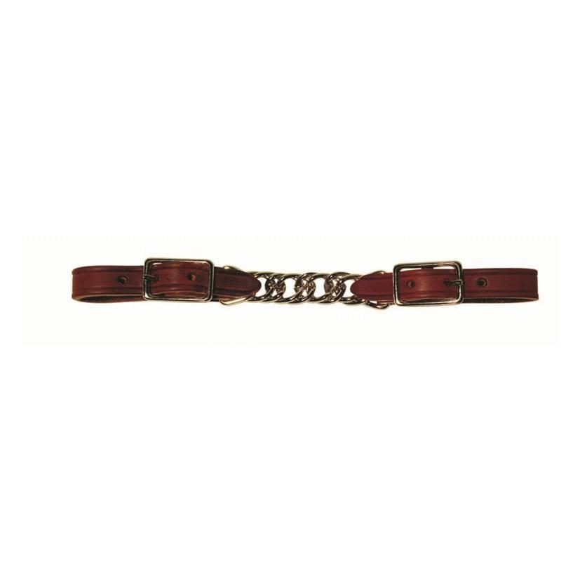 Berlin custom leather Curb Twisted Chain