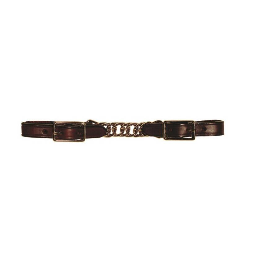 Berlin custom leather Curb Twisted kinketting