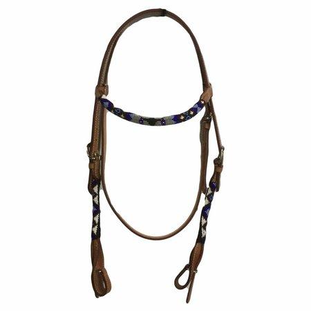 Wild O West Bridon avec des perles bleues