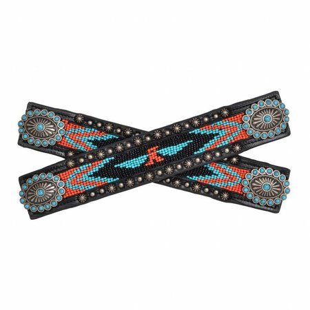 3D Belt Spur strap with bead inlay