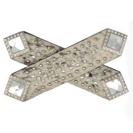 3D Belt Sporenriemen Fell mit Kristallen