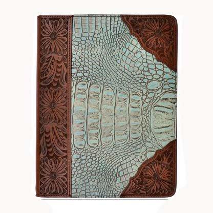 3D Belt Housse pour iPad marron / turquoise