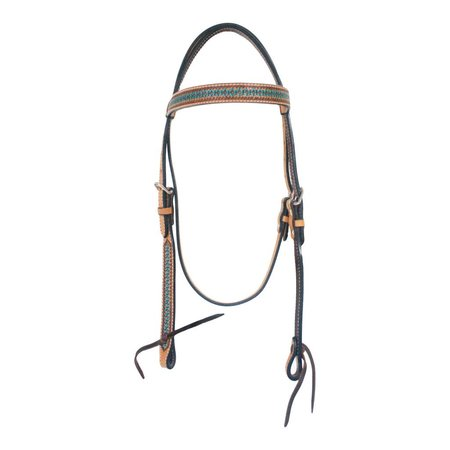 Western Fashion Accessories, Inc. Handbemaltes  Kopfstück mit türkis-farbenem Stirnband