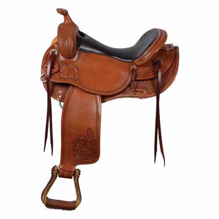 "Western Rawhide TRAIL MASTER saddle, chesnut,16"""