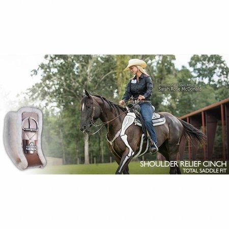 Total Saddle Fit Soulier d'épaule brun Singel avec laine noire