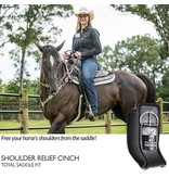 Total Saddle Fit Brown Shoulder Relief Singel Gurt mit schwarzem Wollfleece