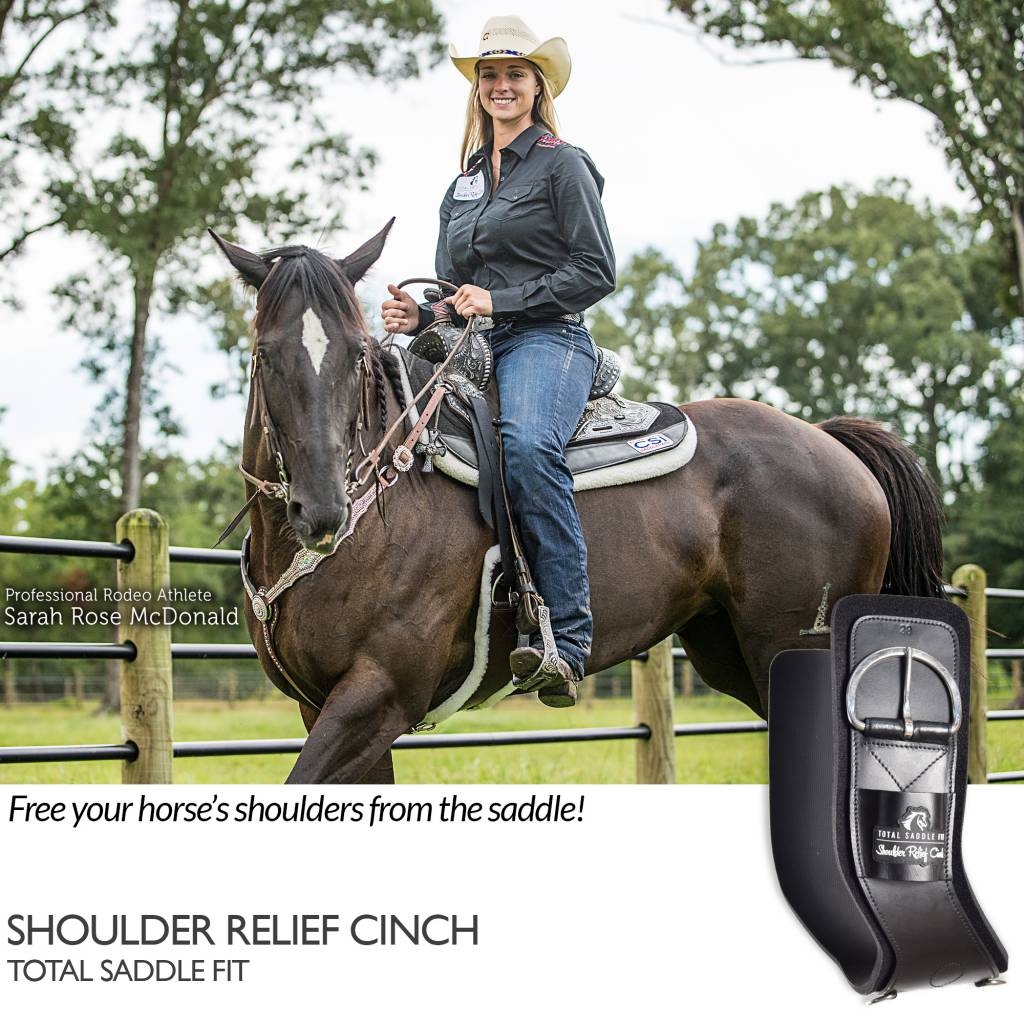 Total Saddle Fit Brown Shoulder Relief Singel mit weicher schwarzer 100% Wolle