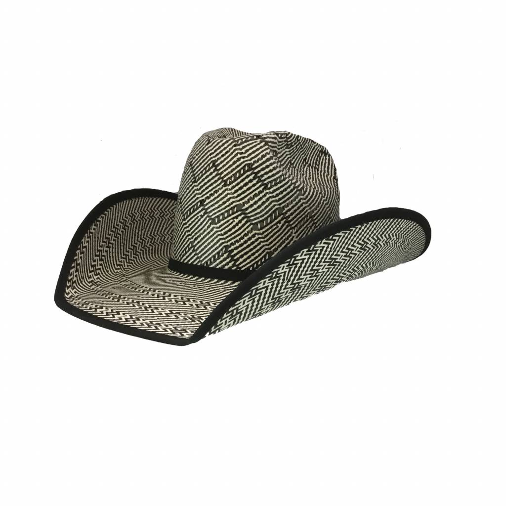 American Hat Company Black Patchwork hat
