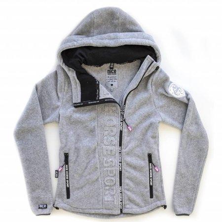 Nice Horse Fashion Horse sport zip hooded jacket