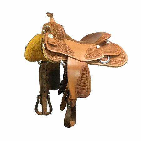 """Jim Taylor Custom saddle Selle Vintage FJ 16 """"avec arbre à demi-quartiers de la série Heritage."""