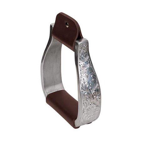 Weaver Leather Aluminium Steigbügel mit eingraviertem Band
