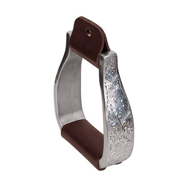Weaver Leather Aluminium stijgbeugels met gegraveerde band
