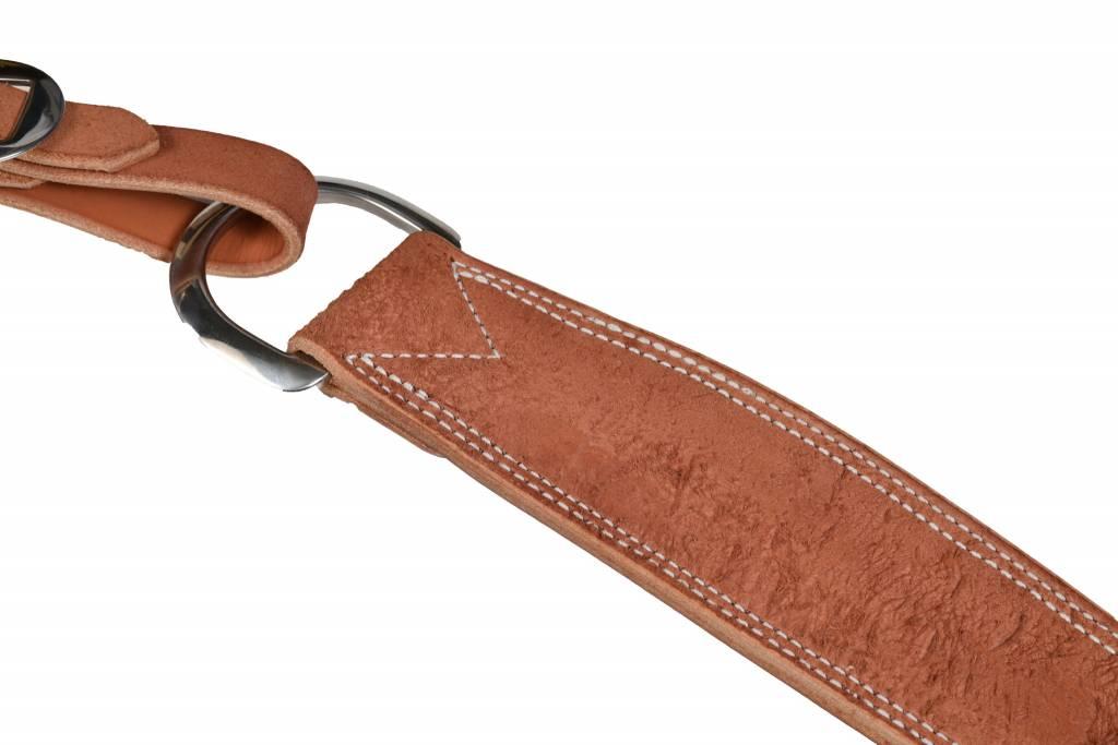 Berlin custom leather Roughout TR Tripper Collar Chestnut Skirting