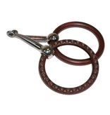 Tom Balding Show Snaffle Bit Loose Ring Divit And Dots Brown