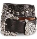 Tony Lama Kaitlyn Crystal Scalloped Leather Belt / Riem