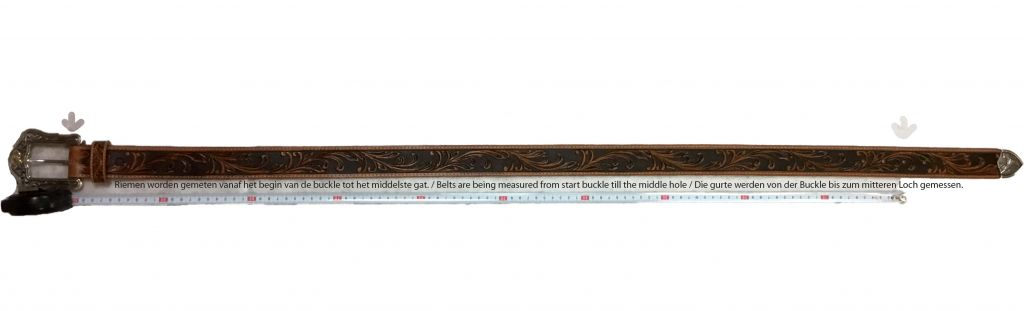 Tony Lama Kaitlyn Crystal Scalloped Leather Belt