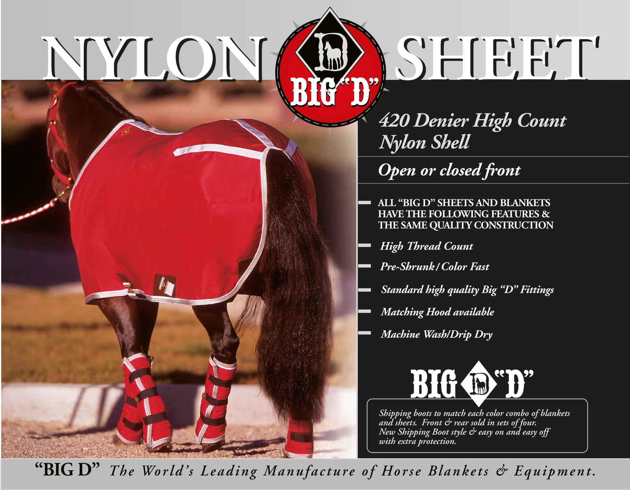 Big D Nylon Stalldecke