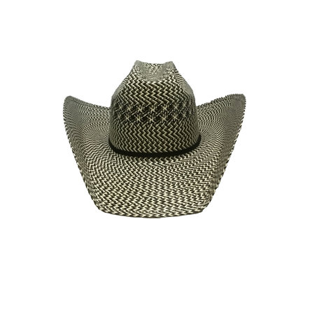 American Hat Company Three Tone Swirl Straw Hat